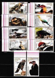 Zaire - BIRDS - Set - MNH