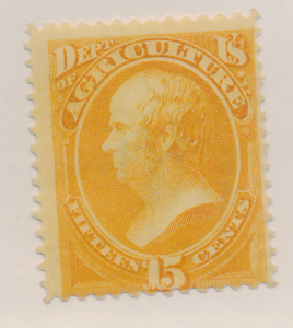 United States Stamp Scott #O7, Used, Original Gum, Paper/Hinge Remnants - Fre...