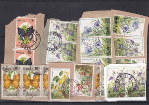 Kenya Stamps on Paper - Flowers + Butterflies Ref 32567