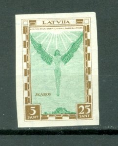 LATVIA IMPERF.  AIR #CB9a...MNH..CAT. $17.50