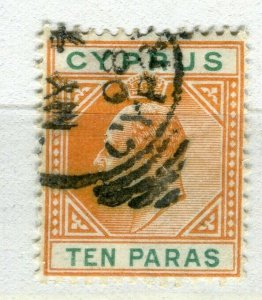 CYPRUS; 1904 early ED VII issue fine used 10pa. value