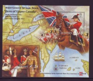 Guernsey Sc 570 1996 Sir Isaac Brock Capex  stamp sheet mint NH