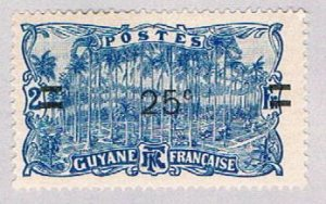 French Guiana 101 MLH Palm Grove 1924 (BP51020)