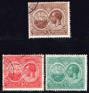 UK STAMP BERMUDA 1920 -1921 The 300th Anniversary of Local Representative LOT