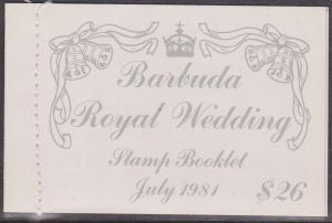 Barbuda - 1981 Royal Wedding Complete Booklet