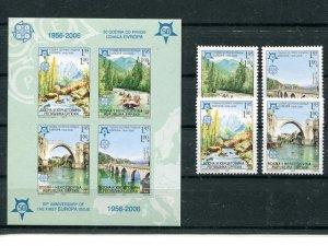 Bosnia Herzegov.  2005 set and Imperf sheet  Mint VF NH -  Lakeshore Philatelics