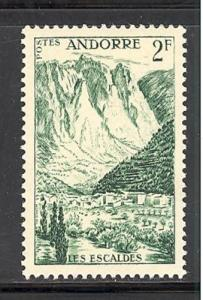 Andorra - french admin 125 mint hinged SCV $ 0.35 (DT)