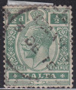 Malta 50 Hinged 1914 King George V