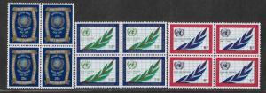 UNITED NATIONS - SC# 209-11  B/4   VF/MNH 1970