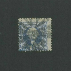 1869 United States Postage Stamp #115 Used Average Fancy Postal Cancel
