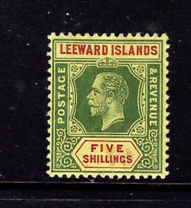 Leeward Is 57 MH 1914 issue number penciled on gum