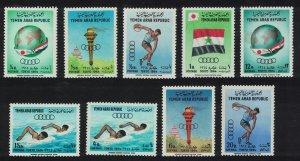 Yemen Olympic Games Tokyo 9v 1964 MNH SG#272-280 MI#359A-367A
