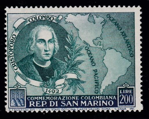 San Marino 1952 Columbus & the Americas High Value of the set VF/NH