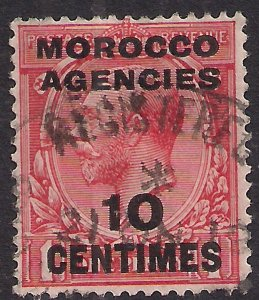 Morocco Agencies 1925 - 34 KGV 10ct on 1d Scarlet used SG 203 ( R735 )