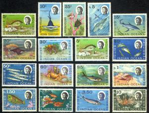 British Indian Ocean Territory Sc# 16-22 24-25 27-33 MNH 1968-1973 Marine Fauna