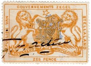 (I.B) Stellaland (Bechuanaland) Revenue : Duty Stamp 6d