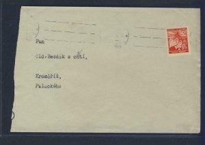 67953- CZECHOSLOVAKIA 1940 - CIRCULATED COVER