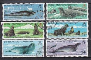 Br. Antarctic Terr. # 96-101, Conservation of Antarctic Seals, Used, 1/2 Cat.