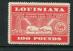 Louisiana Feed Tax #FE91 MNH