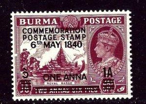 Burma 34 MNH 1940 Overprint    (ap5833)
