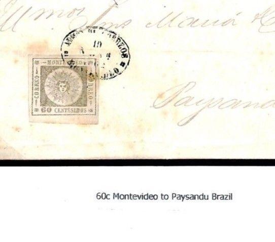 F43c Uruguay Classic 1863 Cover {samwells-covers}