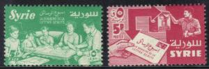 SYRIA  SCOTT# 412+C246 **MNH** 5P 1957  LETTER WRITING WEEK