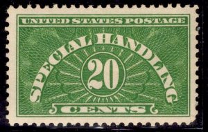 US Stamp #QE3 20c Green Special Handling MINT Hinged  SCV $3.75