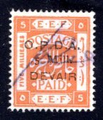 Palestine #8 Revenue, O.P.D.A. 5 Mill overprint, Used, VF  ....  4870084