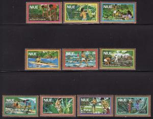 Niue #C1-10, F-VF Mint NH ** Local Industries