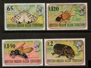 BRITISH INDIAN OCEAN TERR SG86/9 1976 WILDLIFE MNH