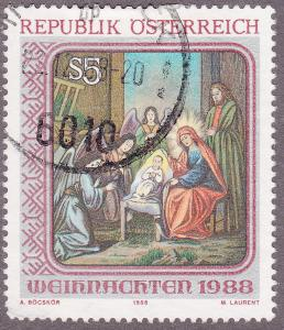 Austria 1446 USED 1988 Christmas