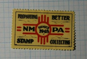 NMPA 1948 Stamp Collecting Philatelic Souvenir Ad Label