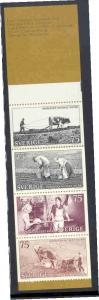 Sweden Sc 1014a 1973 Nordic Museum  stamp booklet of 10 mint NH