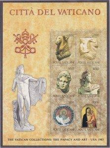 Vatican MNH S/S 719 Papacy & Art II 1983