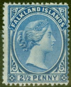 Falkland Is 1894 2 1/2d Ultramarine SG30 Fine Mtd Mint