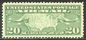 U.S. #C9 SUPERB NH JUMBO w/Cert - 1927 20c Map
