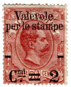 (I.B) Italy Postal : Parcel Post 2c on 50c OP