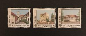 Cyprus 1978 #495-7 MNH, CV $2.50