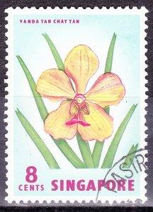 SINGAPORE 1963 8c Multicoloured SG68 FU