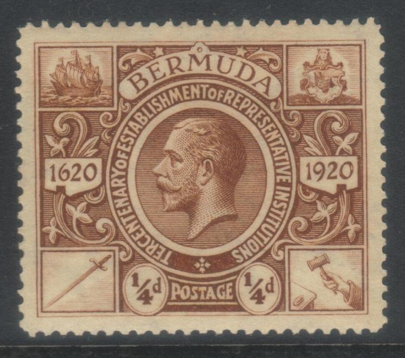 BERMUDA 1921 TERCENT OF PRERESENTATIVE INST (2nd ISSUE) SG74 MH