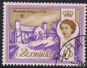 Bermuda 1962 - 68 QE2 10d Bermuda Cottage SG 170a ( J1288 )