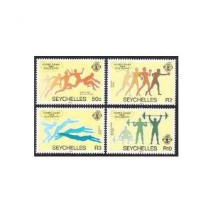 Seychelles 547-550,550a,MNH.Michel 563-566,Bl.24 Olympics Los Angeles-1984.