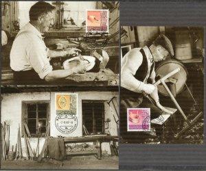 Liechtenstein 1998 Alt Crafts 3 Maxi Cards FDC