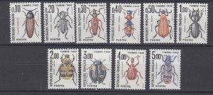 J29318, 1982-3 france set mnh #j106-15 insects