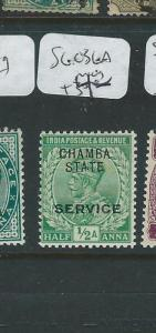 INDIA CHAMBA (P3107B)  KGV  1/2A  SG O36A     MOG
