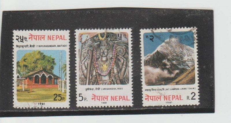 Nepal  Scott#  398-400  Used  (1981)