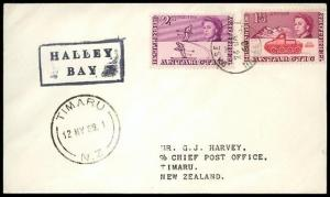 BR ANTARCTIC TERR 1969 cover BASE Z, Halley Bay...........................91236W
