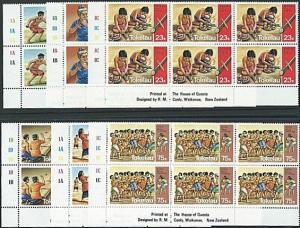 TOKELAU 1983 Sport & Crafts set in plate blocks of 6 MNH...................41469