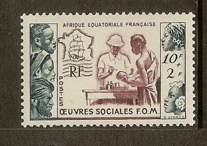 French Equatorial Africa, Scott #B39, 10fr + 2fr Tropical Medicine Issue, MNH