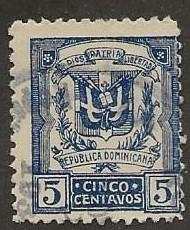 DOMINICAN REPUBLIC SC #  235  USED
